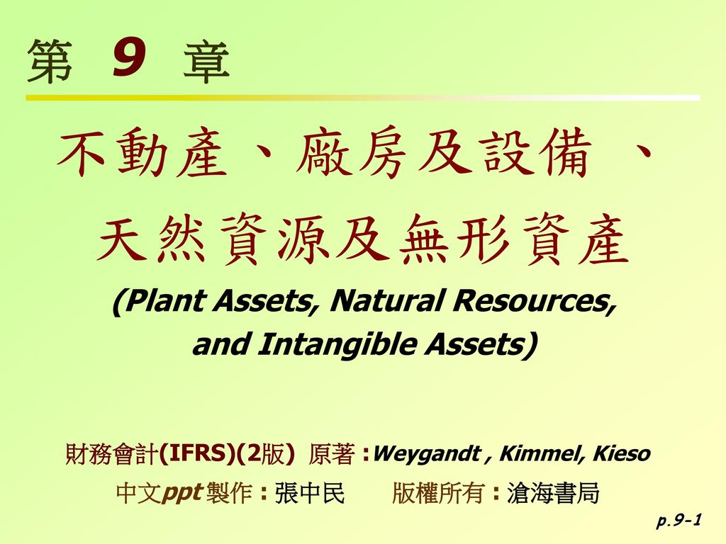(Plant Assets, Natural Resources, and Intangible Assets)