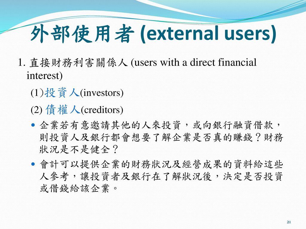 外部使用者 (external users)