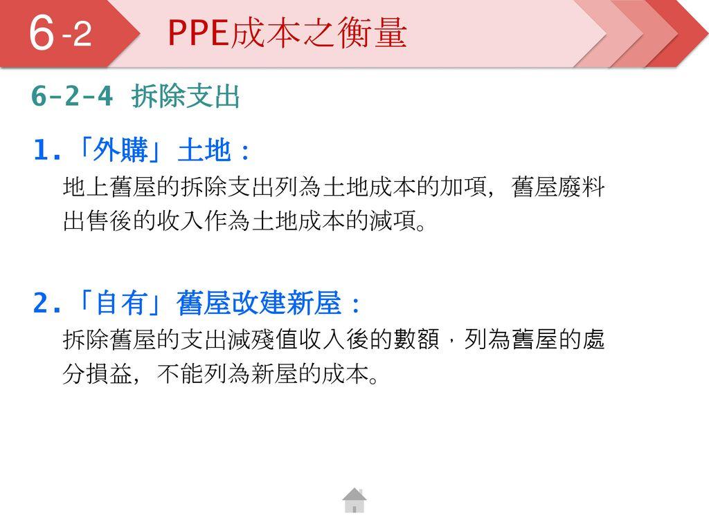 5 6. -2. PPE成本之衡量. 6-2-4 拆除支出.