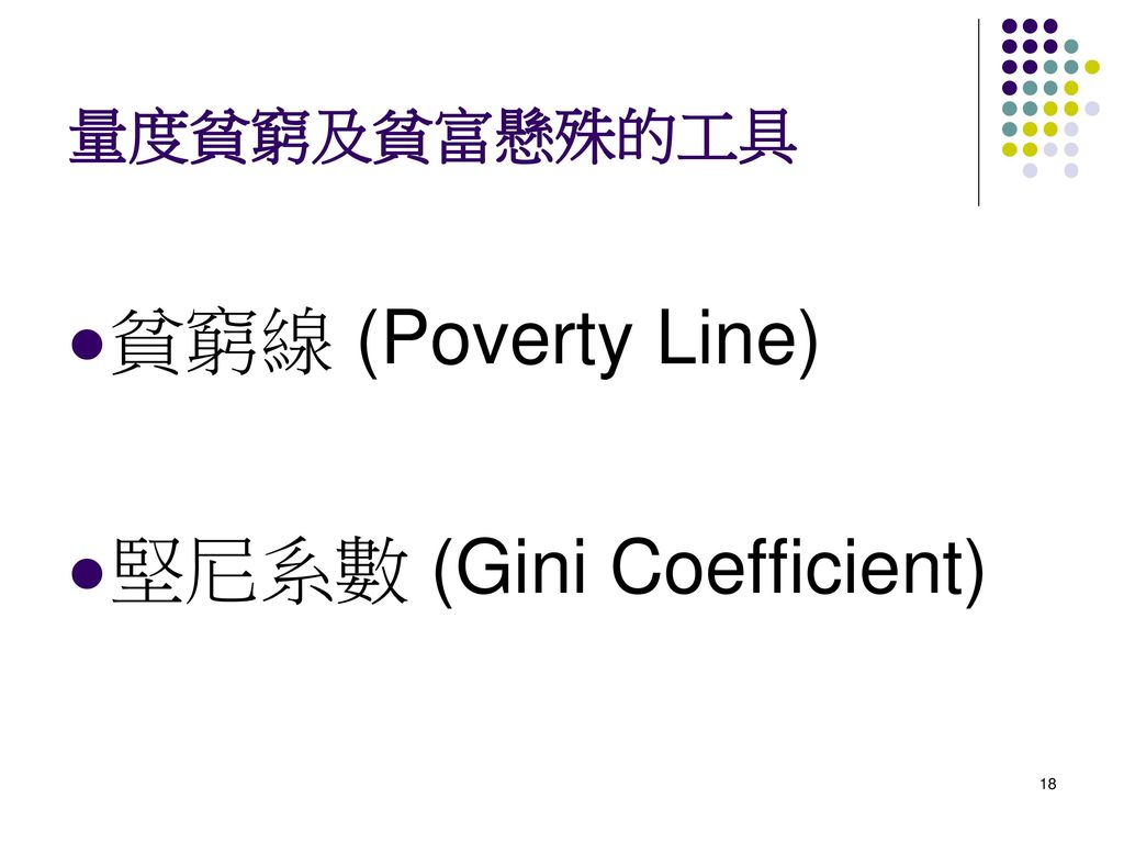 堅尼系數 (Gini Coefficient)