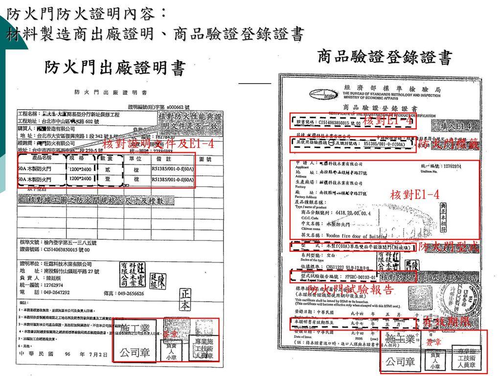 內政部營建署發出者:(申請建築防火材料審核認可作業注意事項)