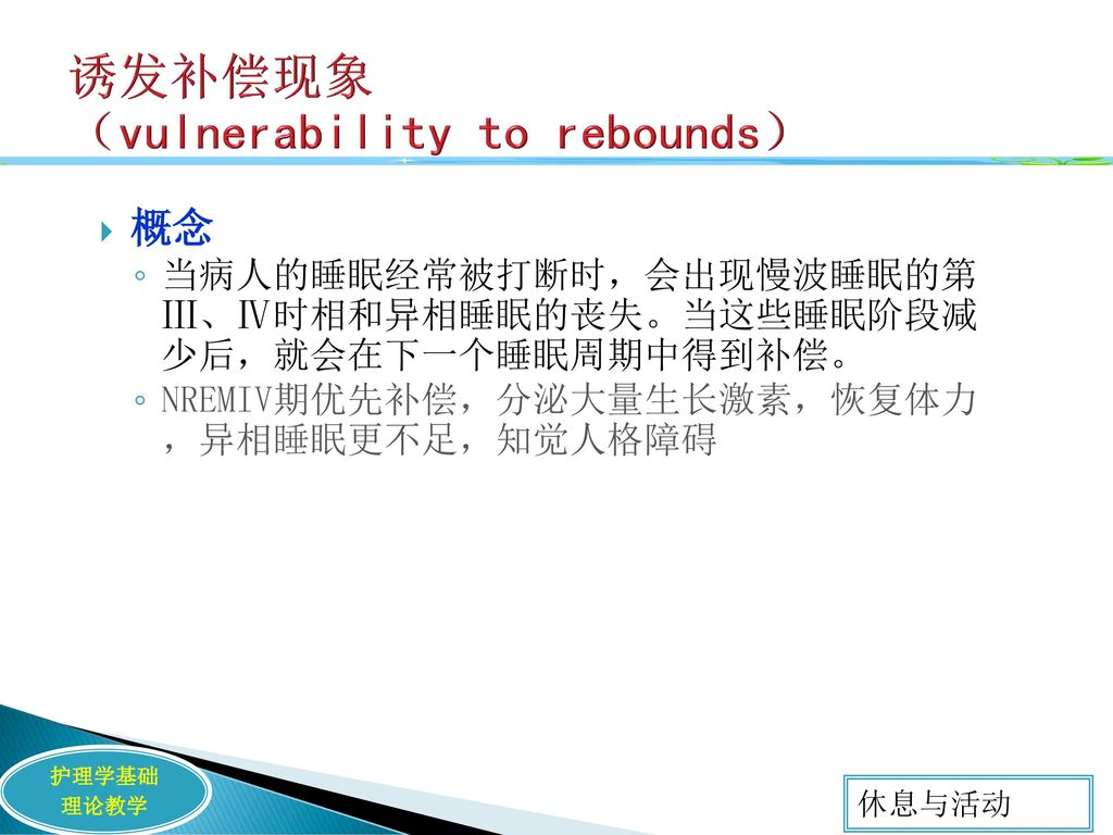 诱发补偿现象 (vulnerability to rebounds)
