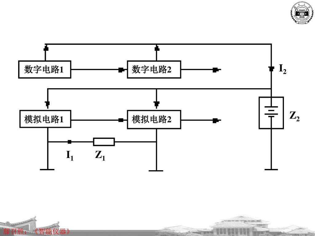 数字电路1 数字电路2 模拟电路1 模拟电路2 I2 I1 Z1 Z2
