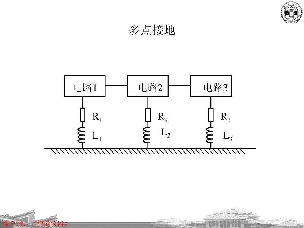 多点接地 电路1 电路2 电路3 R1 R2 R3 L2 L1 L3