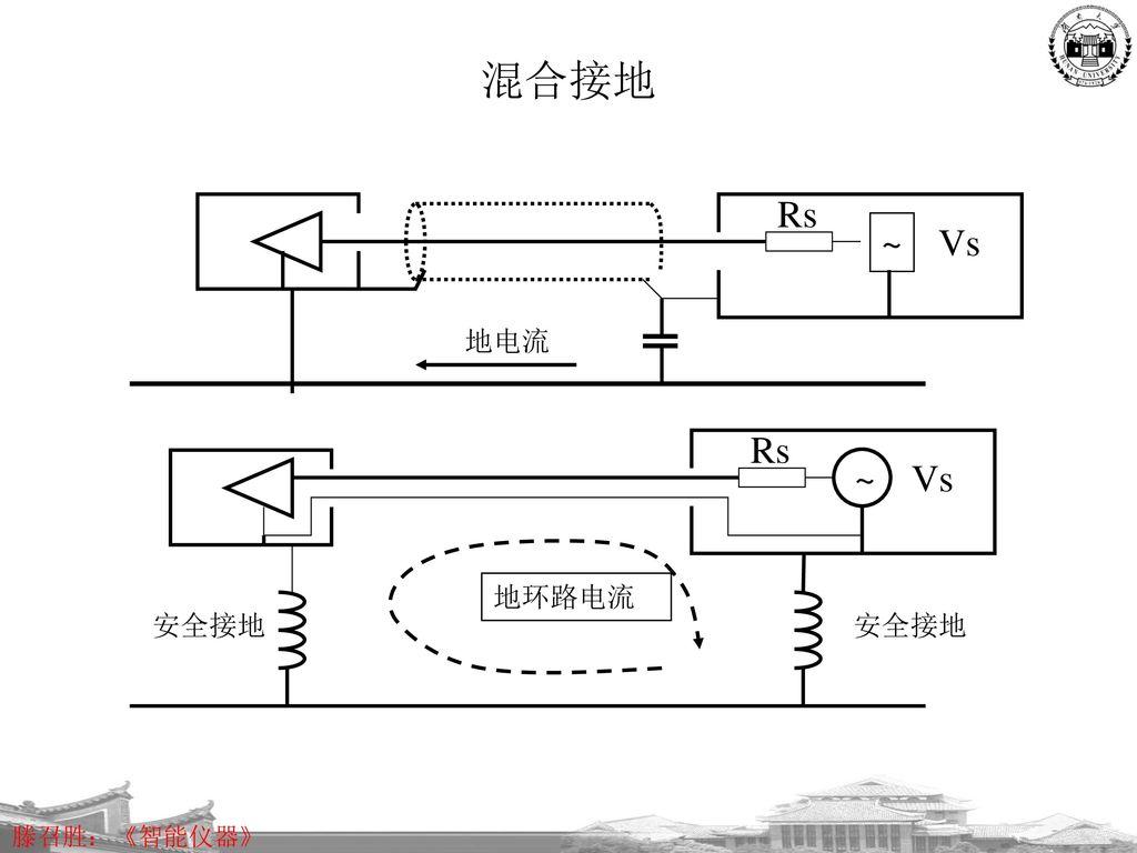 混合接地 Rs ~ Vs 地电流 Rs ~ Vs 地环路电流 安全接地 安全接地