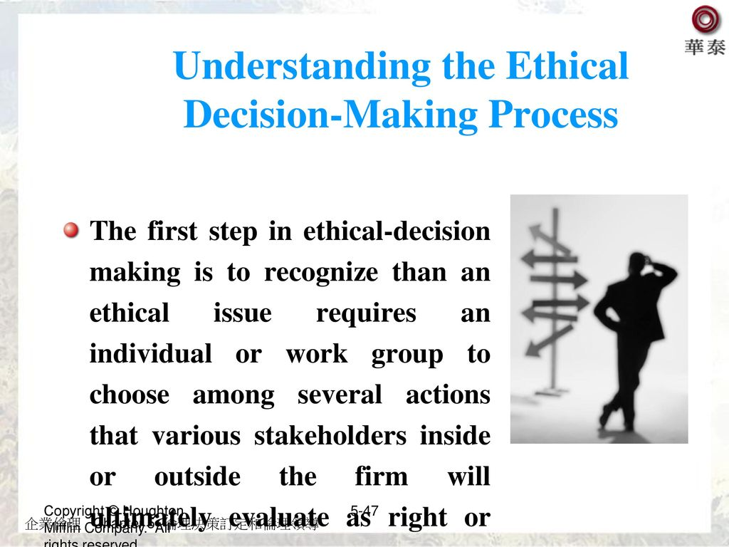 Understanding the Ethical Decision-Making Process