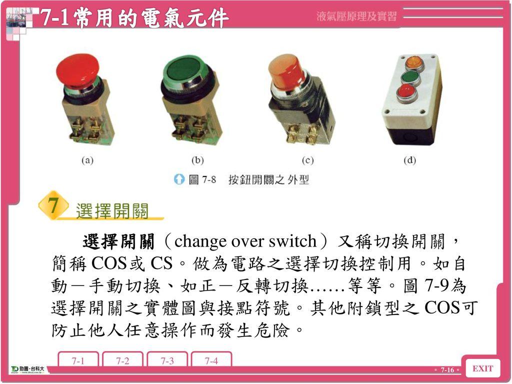 7-1常用的電氣元件 7-1 常用的電氣元件.