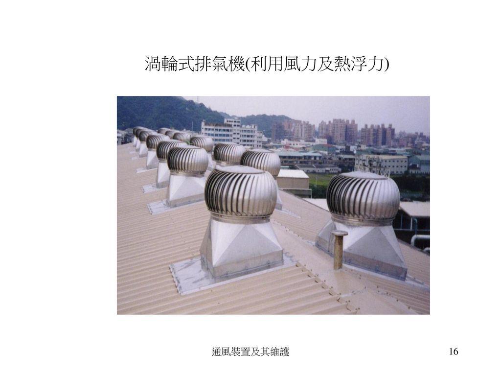 (裝於屋頂上) 通風裝置及其維護