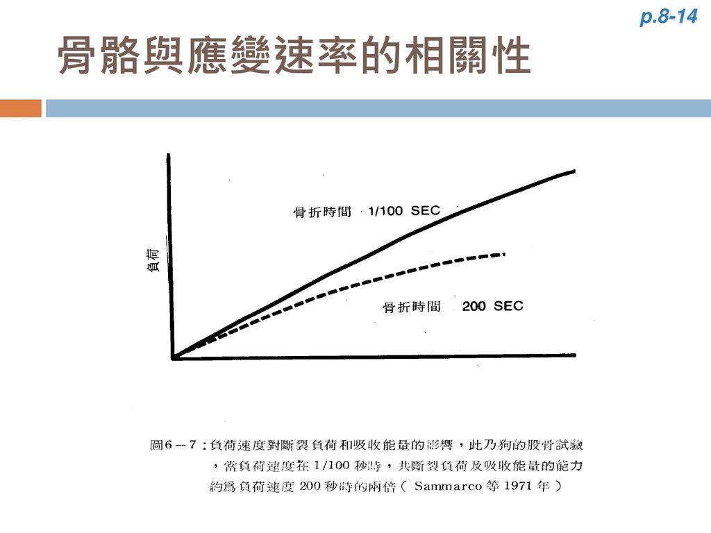 p.8-14 骨骼與應變速率的相關性