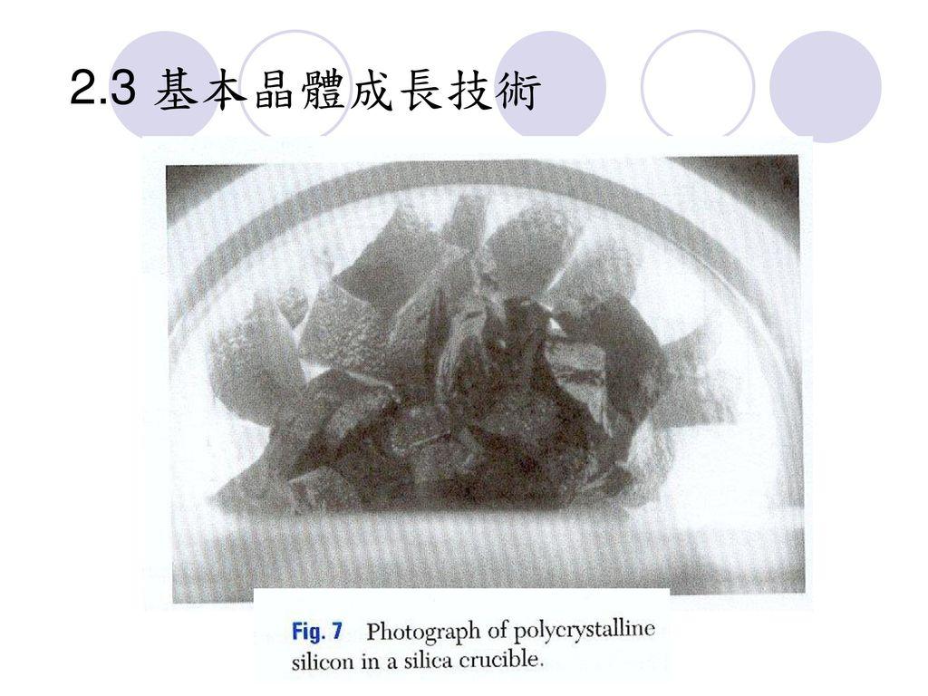 2.3 基本晶體成長技術