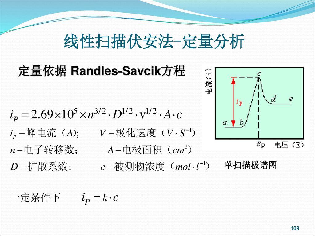 定量依据 Randles-Savcik方程