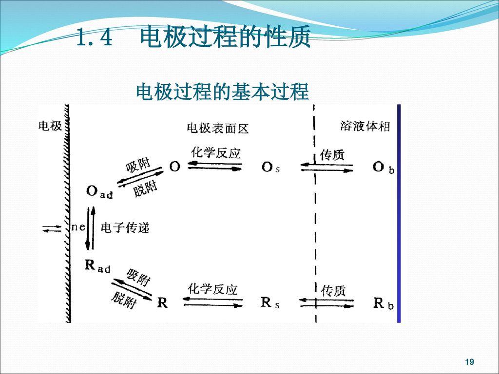 1.4 电极过程的性质 电极过程的基本过程