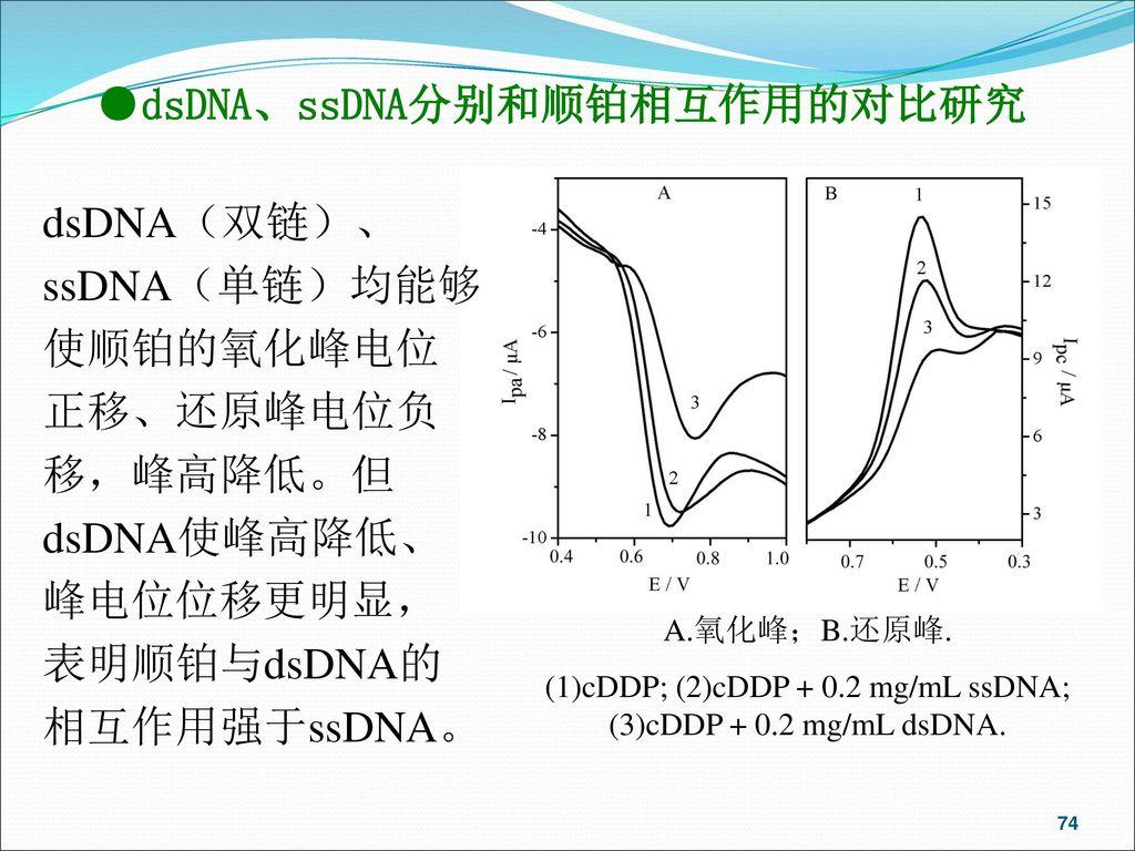 (1)cDDP; (2)cDDP + 0.2 mg/mL ssDNA; (3)cDDP + 0.2 mg/mL dsDNA.