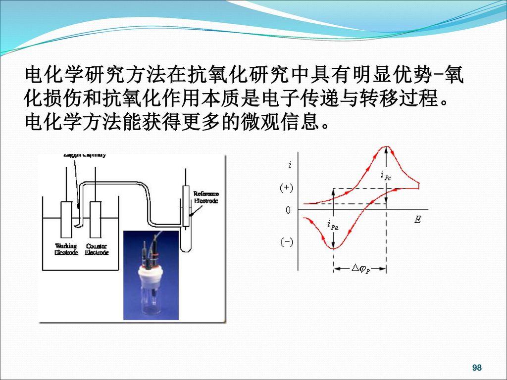 电化学研究方法在抗氧化研究中具有明显优势-氧化损伤和抗氧化作用本质是电子传递与转移过程。