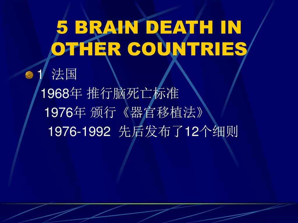 5 BRAIN DEATH IN OTHER COUNTRIES