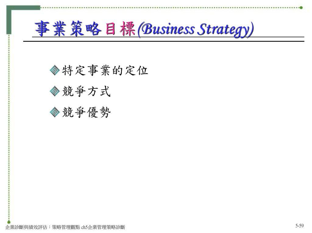 事業策略目標(Business Strategy)