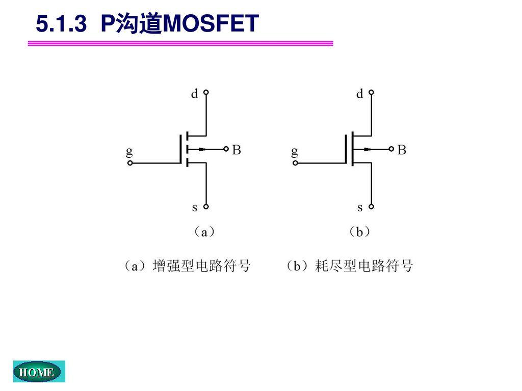 5.1.3 P沟道MOSFET