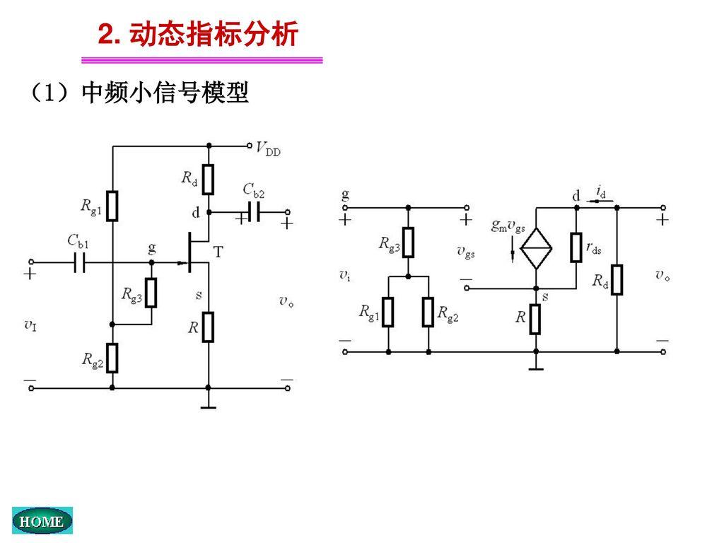 2. 动态指标分析 (1)中频小信号模型