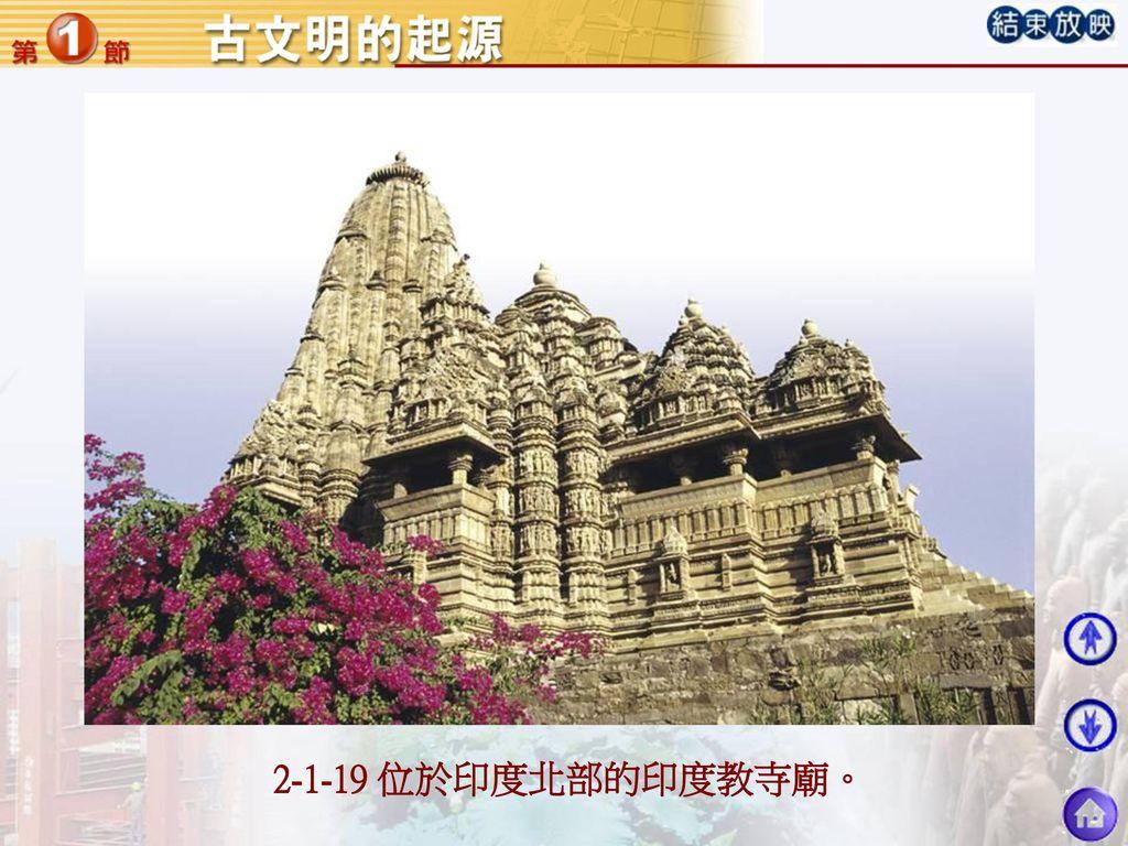 2-1-19 位於印度北部的印度教寺廟。