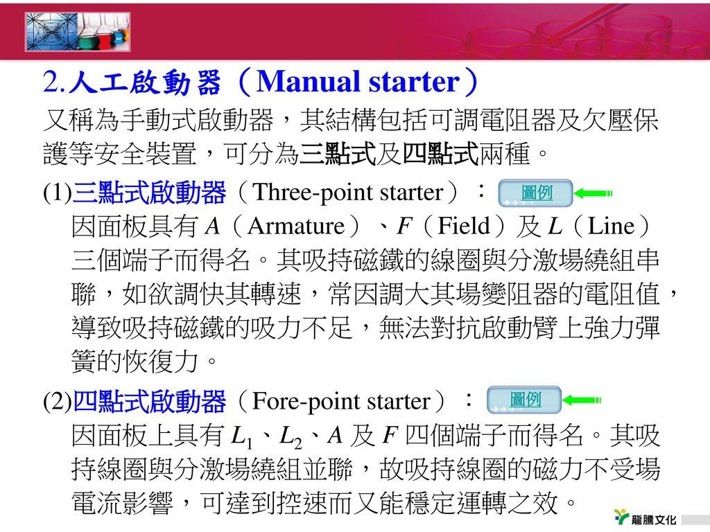 2.人工啟動器(Manual starter)