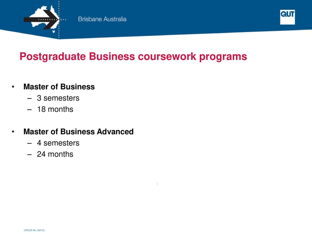Postgraduate Business coursework programs
