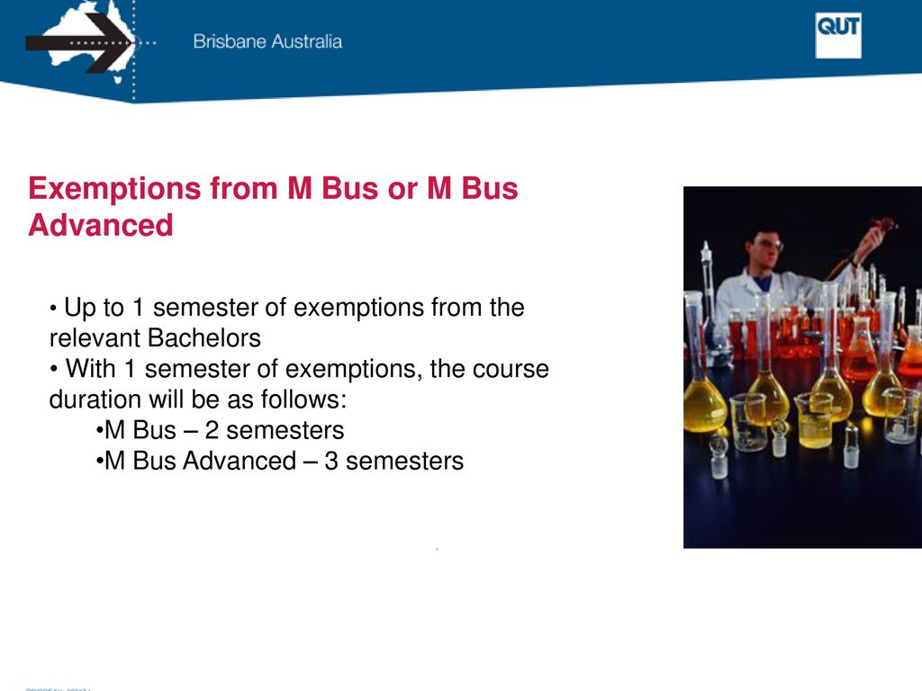 Exemptions from M Bus or M Bus Advanced