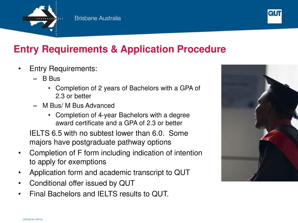 Entry Requirements & Application Procedure