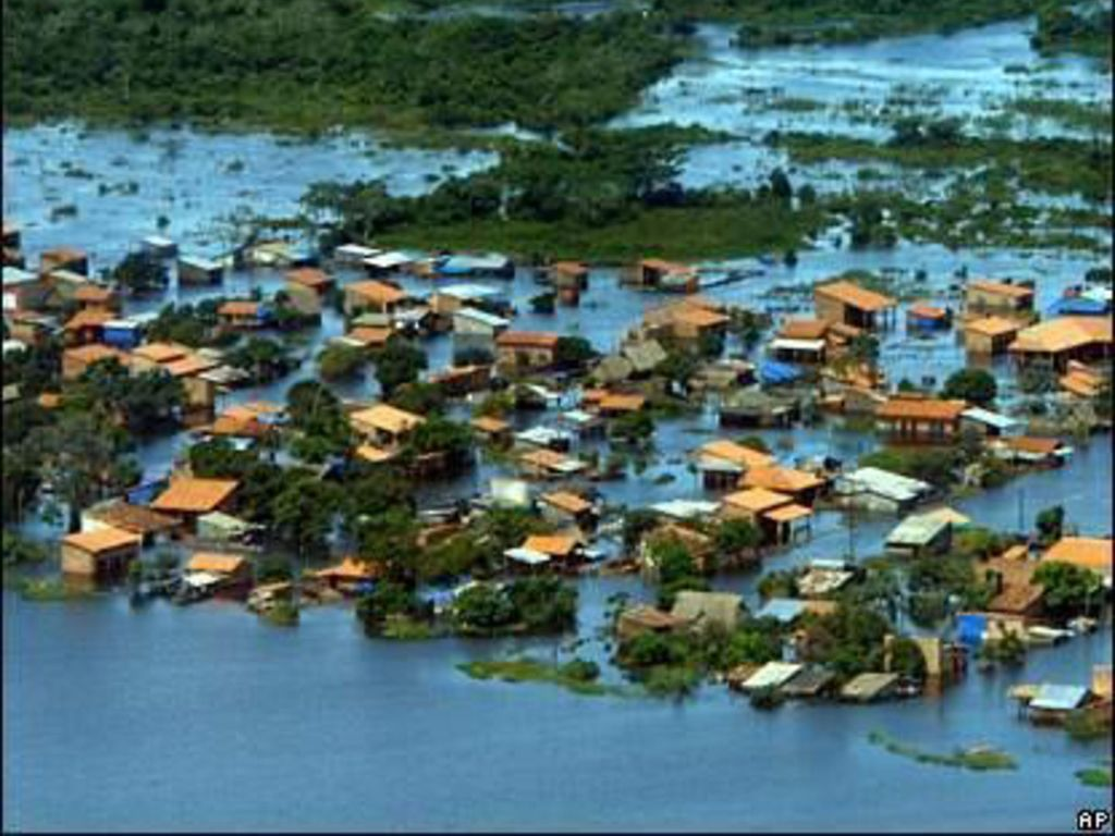 http://news.bbc.co.uk/2/hi/in_pictures/7237214.stm 玻利維亞自2007年11月,因為La Nina現象引起水災.