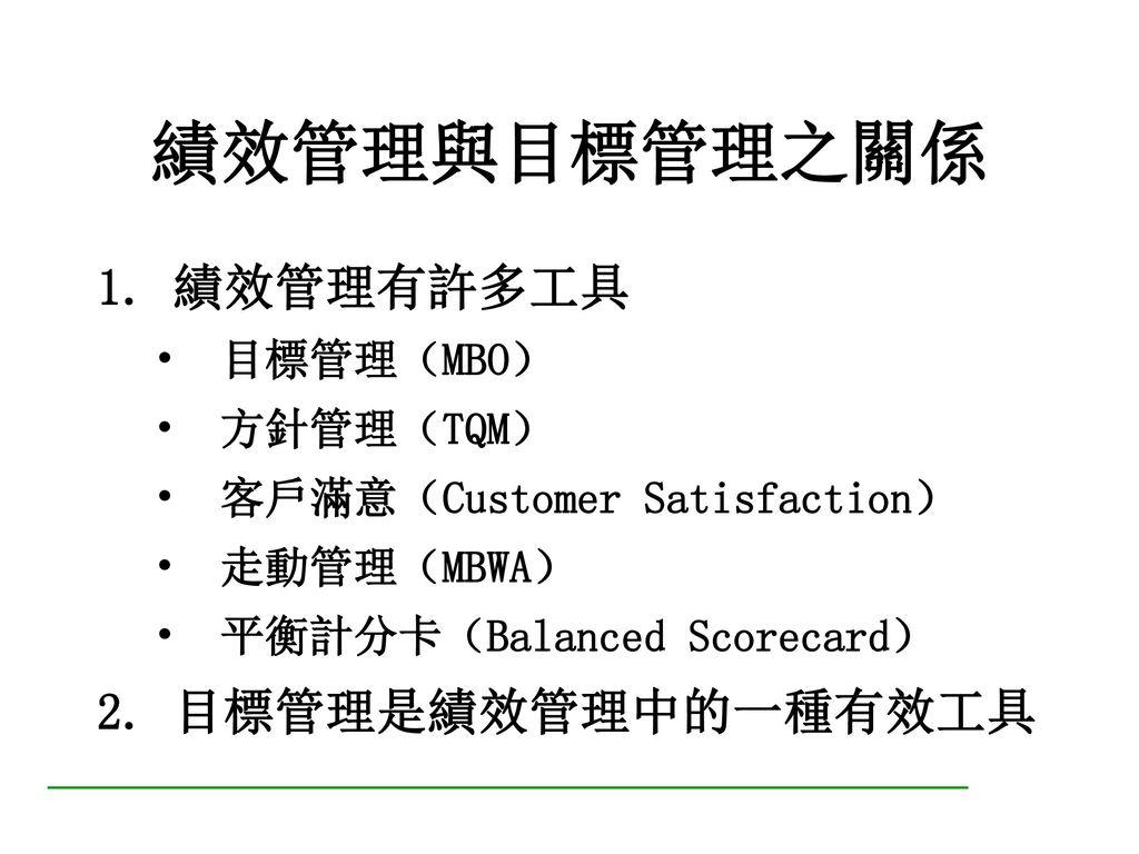 平衡計分卡(Balanced Scorecard)