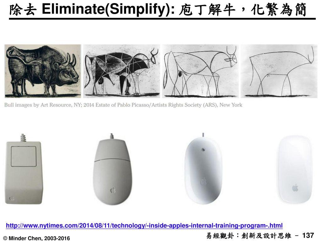 除去 Eliminate(Simplify): 庖丁解牛,化繁為簡