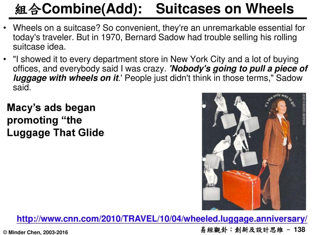 組合Combine(Add): Suitcases on Wheels