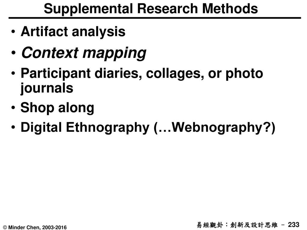 Supplemental Research Methods