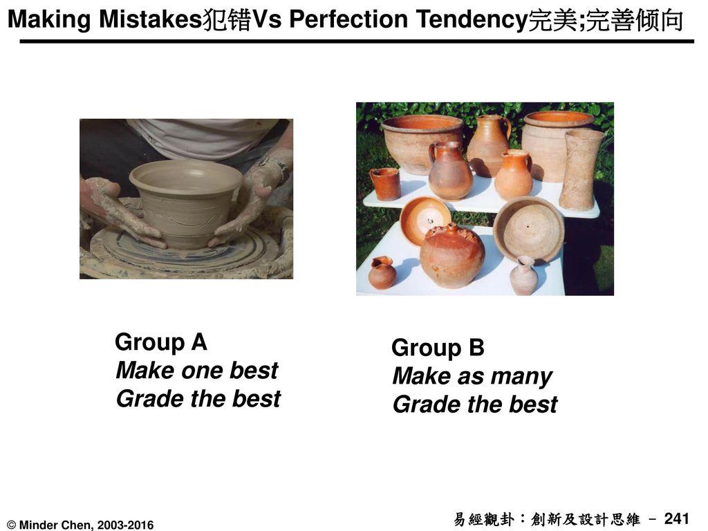 Making Mistakes犯错Vs Perfection Tendency完美;完善倾向