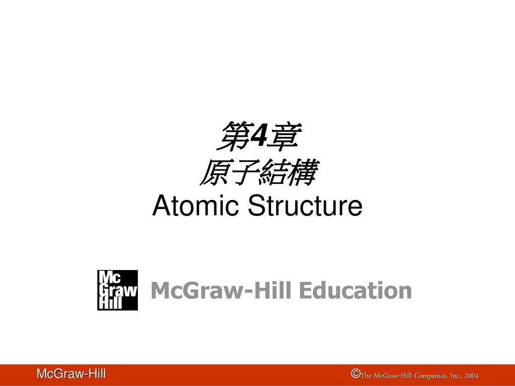 第4章 原子結構 Atomic Structure