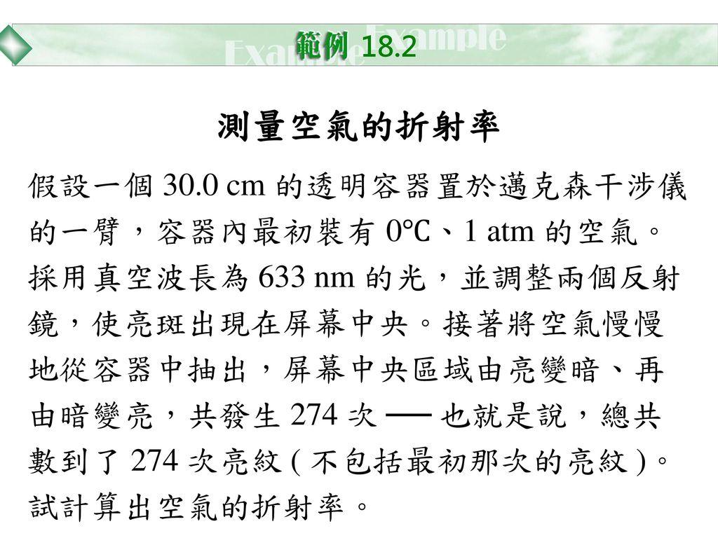 18.2 測量空氣的折射率.