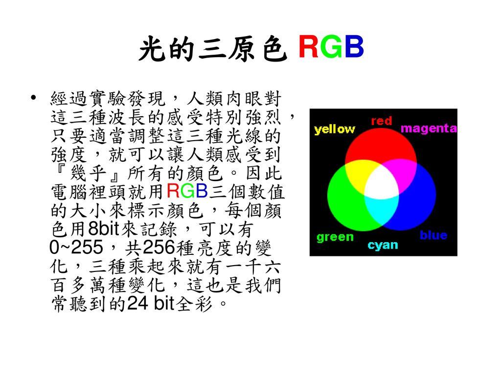 光的三原色 RGB