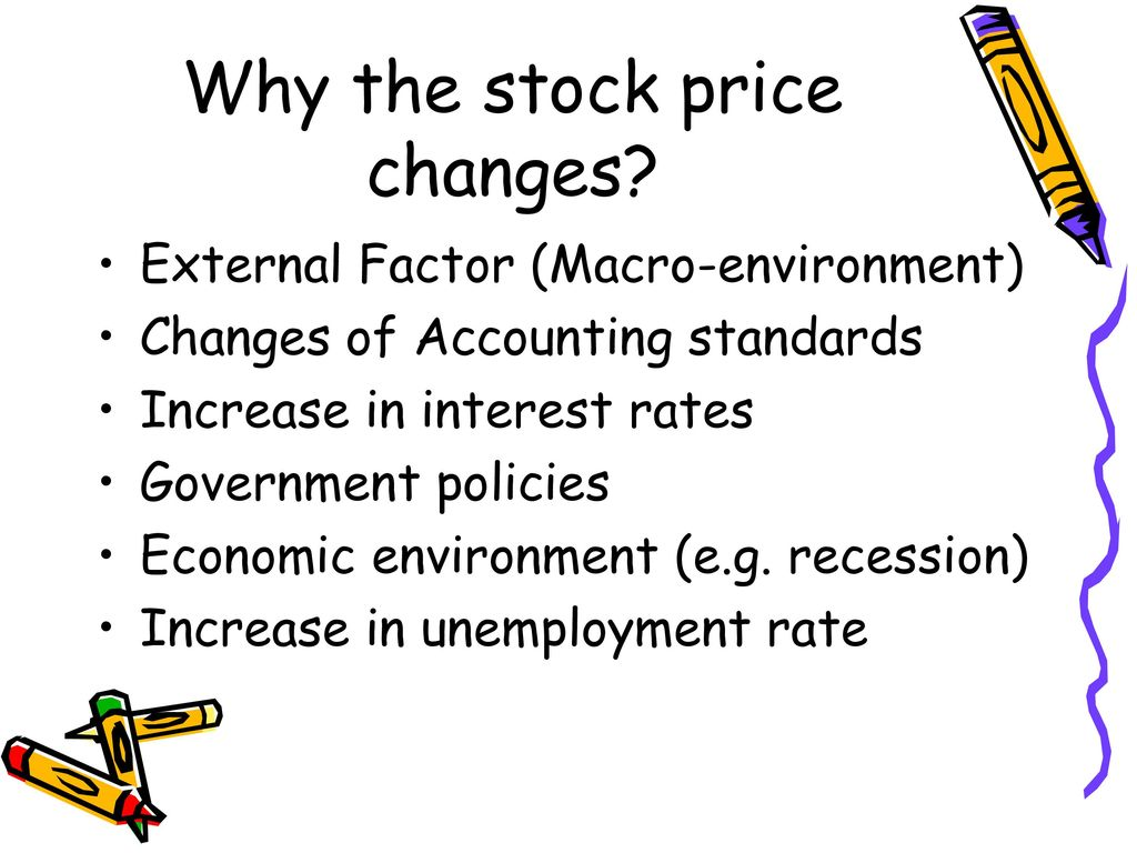 Why the stock price changes