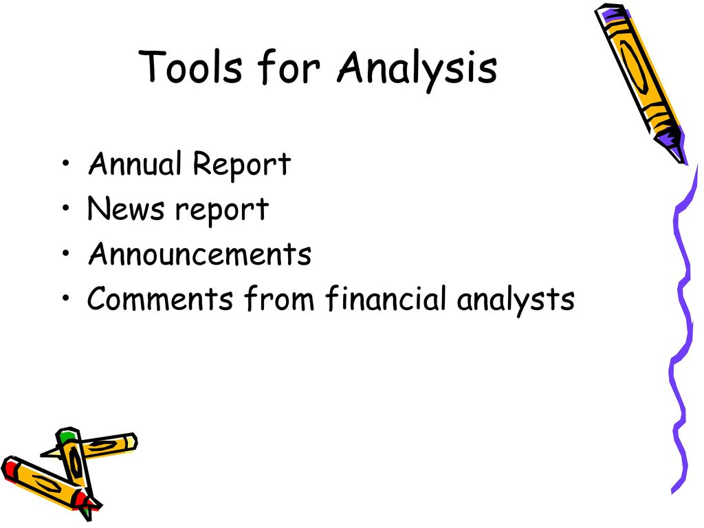 Tools for Analysis Annual Report News report Announcements