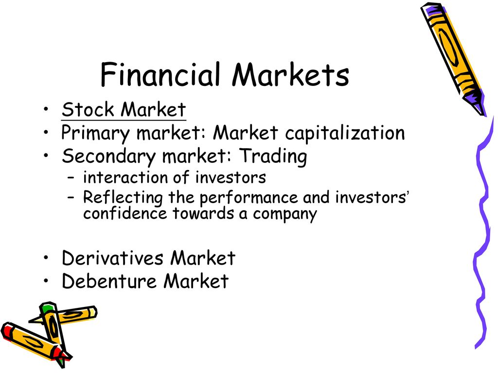 Financial Markets Stock Market Primary market: Market capitalization
