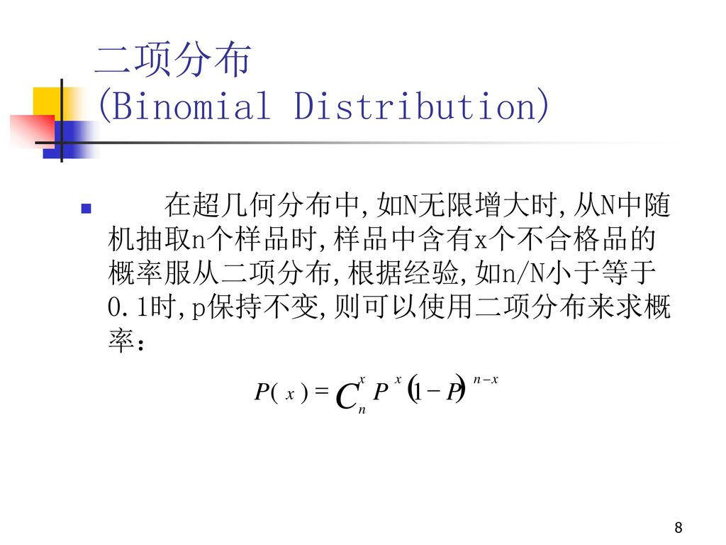 (Binomial Distribution)