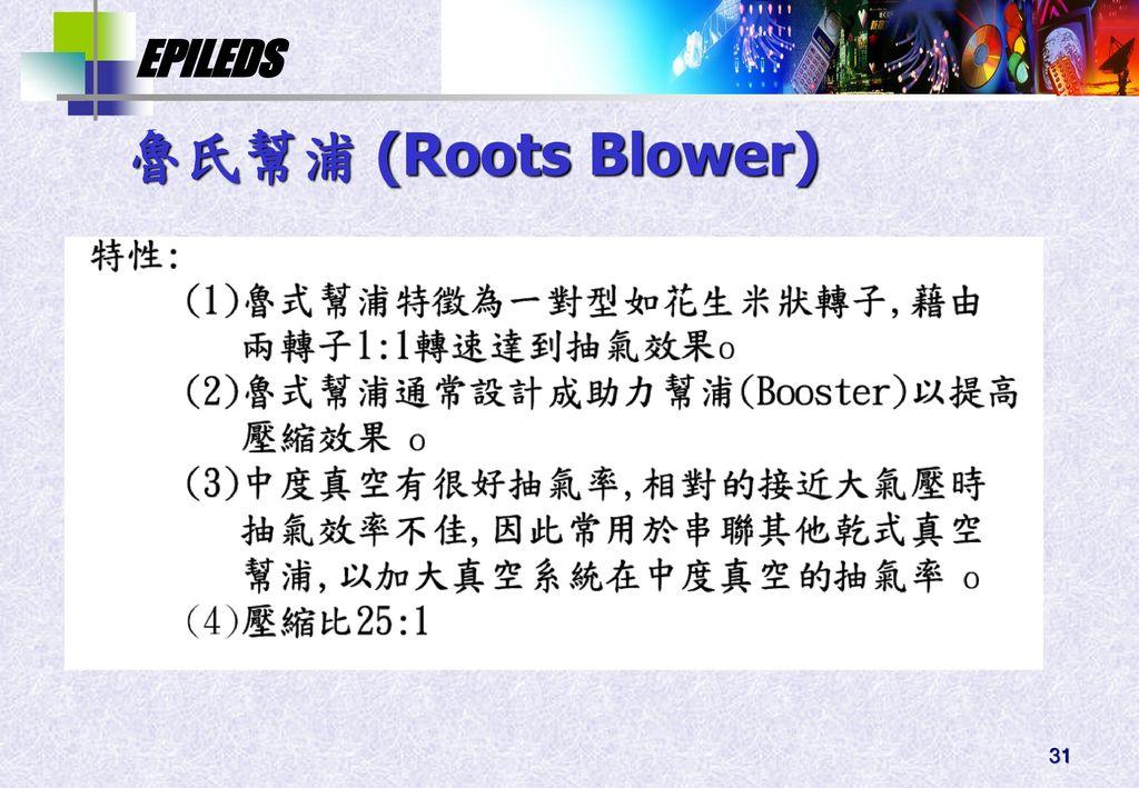 魯氏幫浦 (Roots Blower)