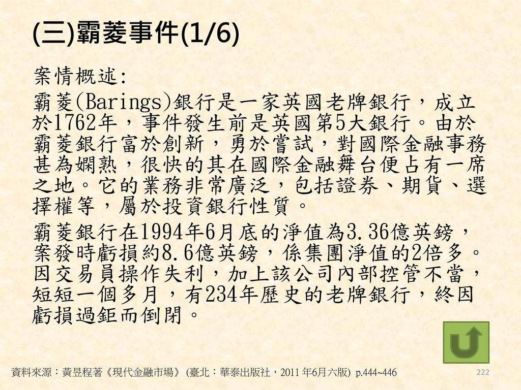 (三)霸菱事件(1/6)