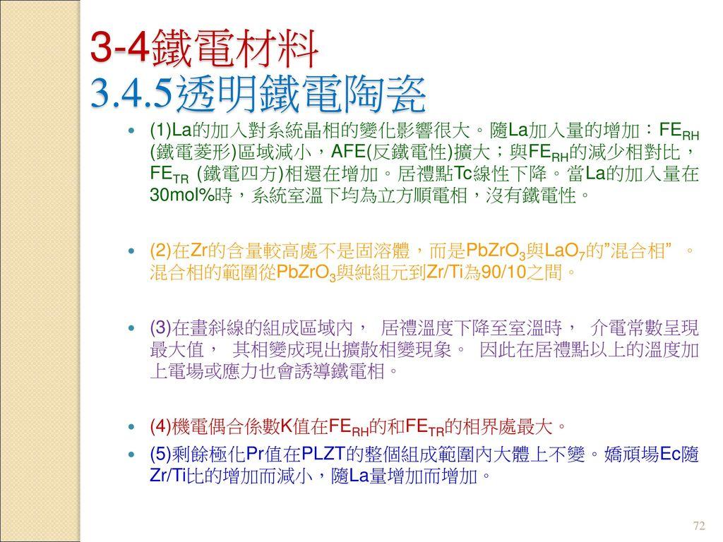 3-4鐵電材料 3.4.5透明鐵電陶瓷