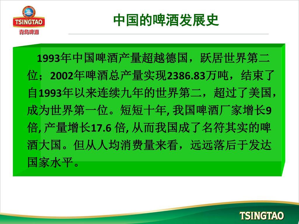 中国的啤酒发展史