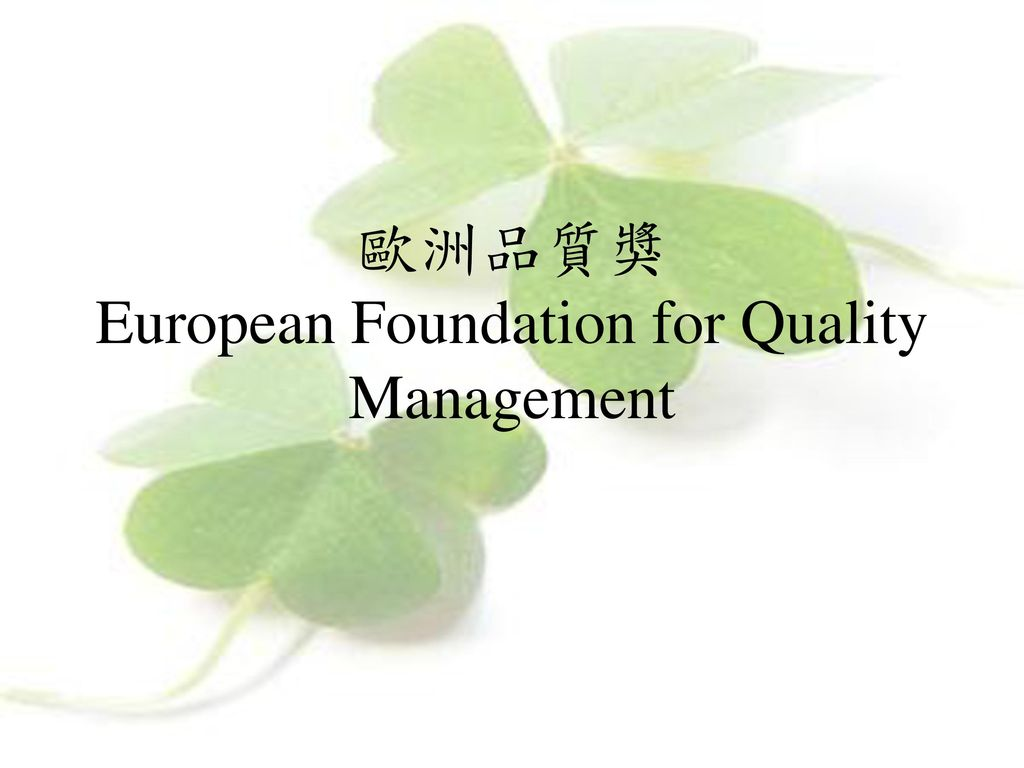 歐洲品質獎 European Foundation for Quality Management