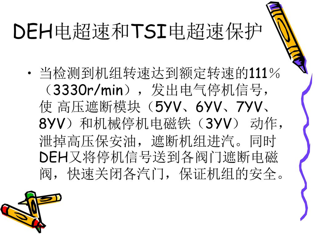 DEH电超速和TSI电超速保护
