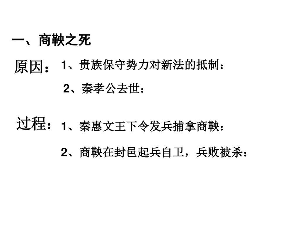 商鞅变法的影响_商鞅变法. - ppt download
