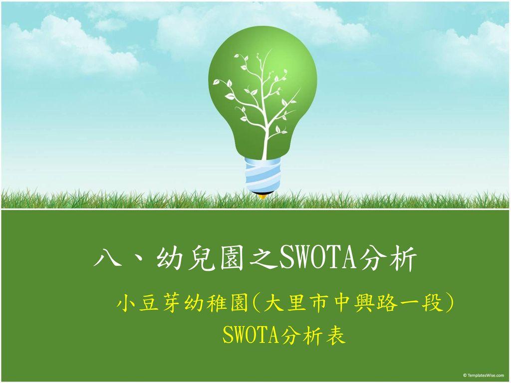 小豆芽幼稚園(大里市中興路一段) SWOTA分析表