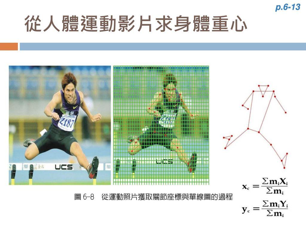 p.6-13 從人體運動影片求身體重心
