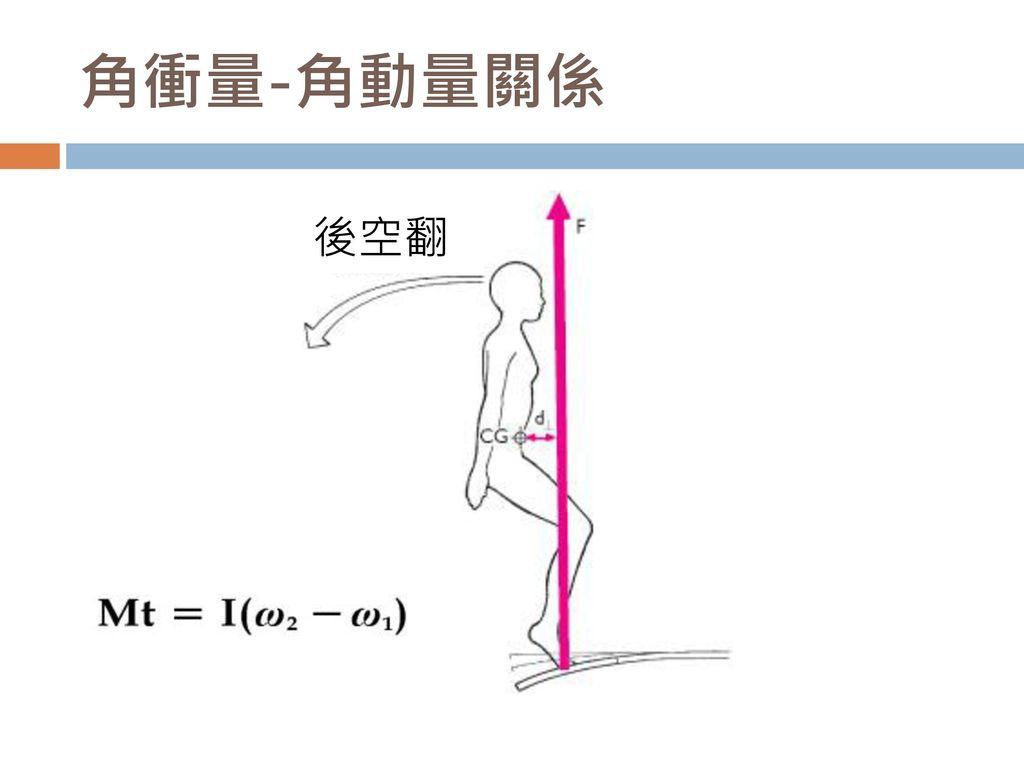 角衝量-角動量關係 後空翻